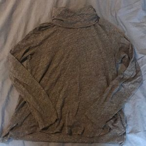 Gray Madewell Lightweight Turtleneck